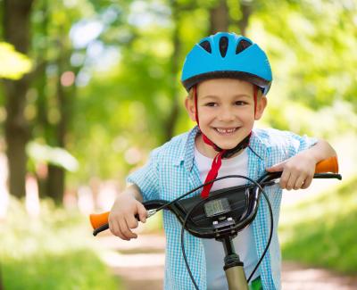 Children riding bikes in the neighborhood
