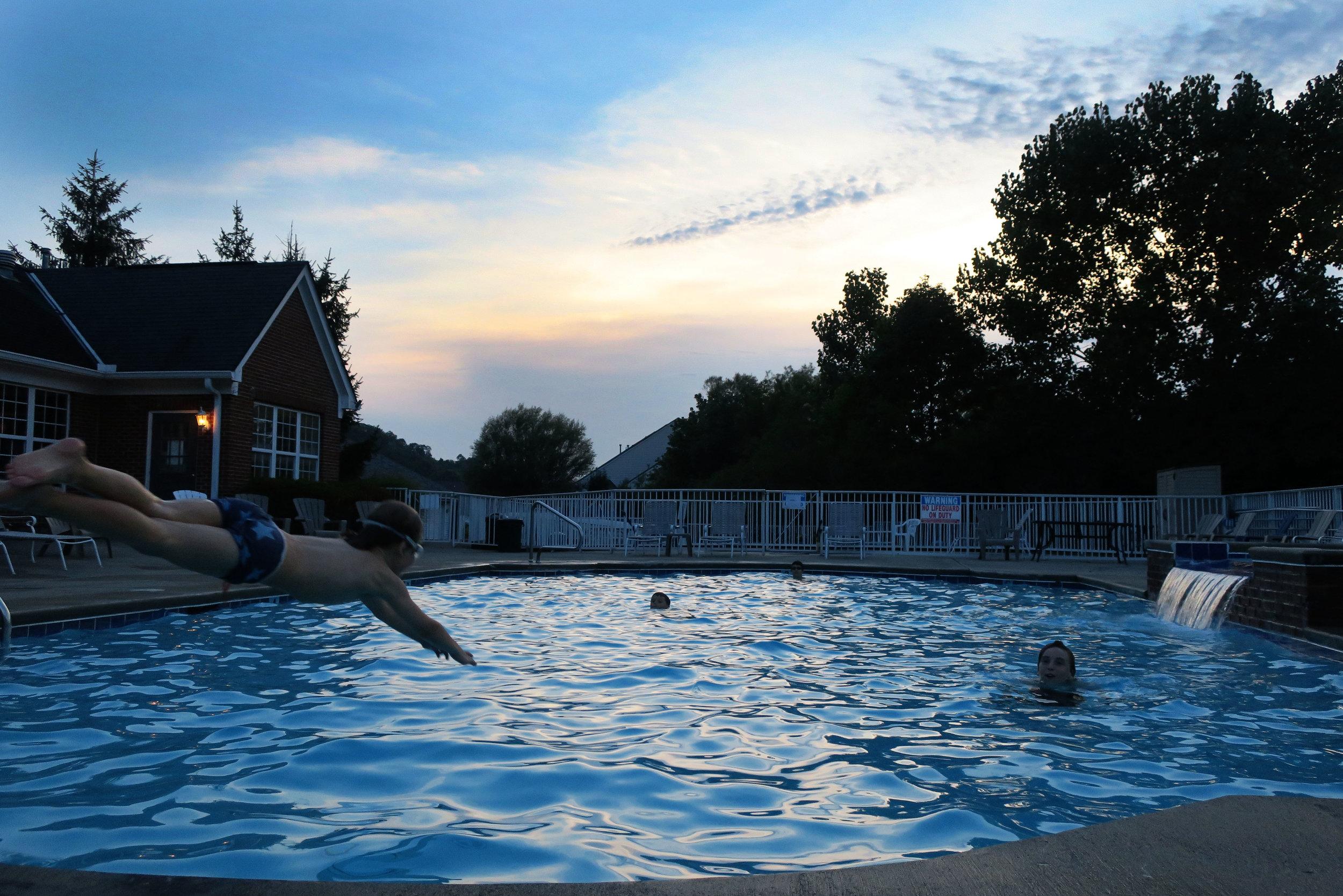 Day 46 - Evening swim - NO DIVING!