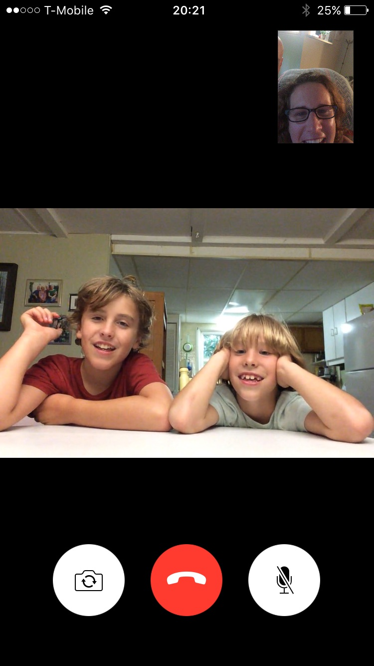 Day 57 - Facetime with Kids in Canada