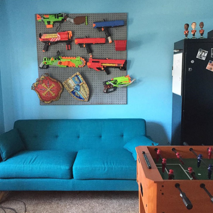 Day 64 - Finished Game room and Nerf Gun wall