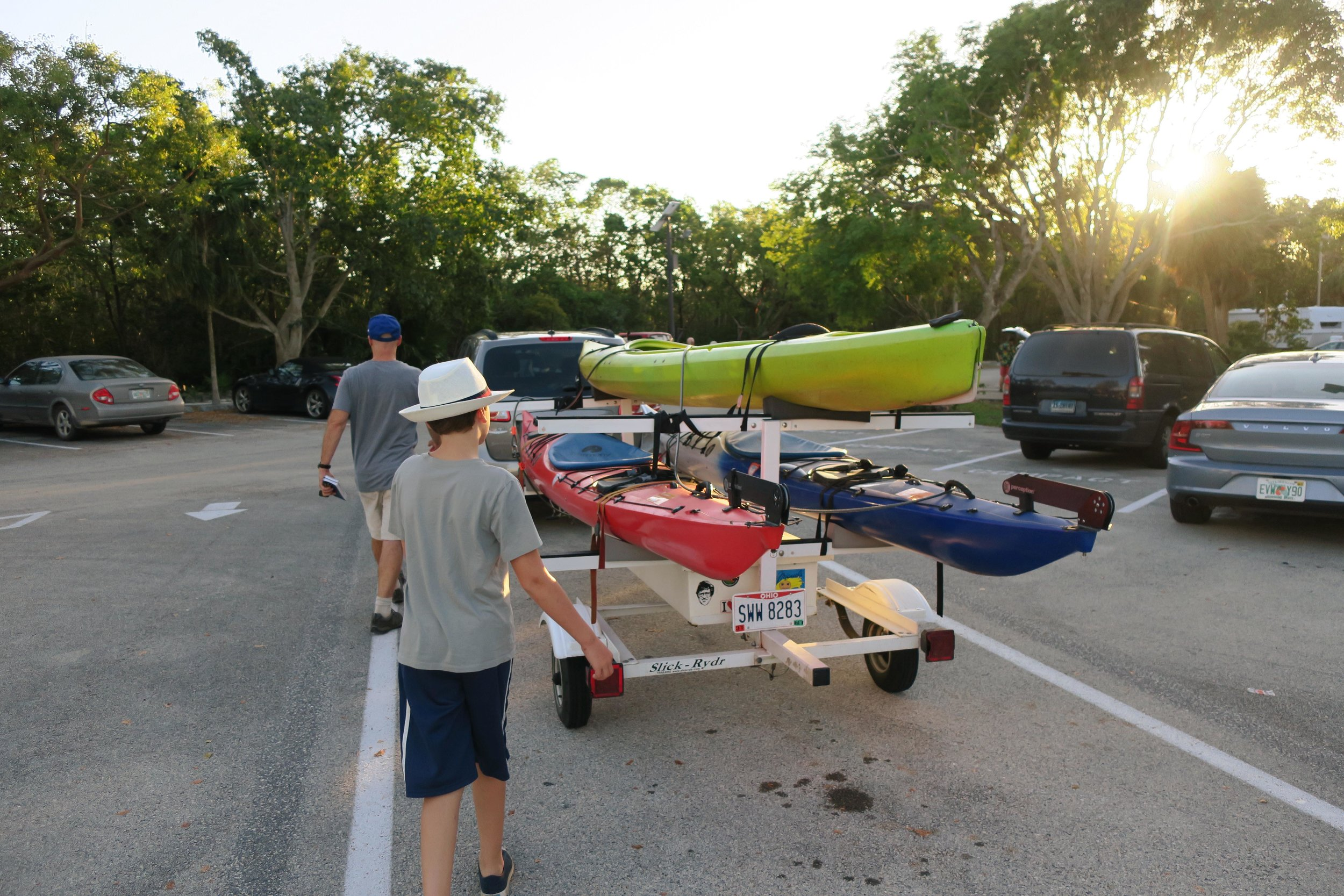 my pretty kayaks and trailer haha