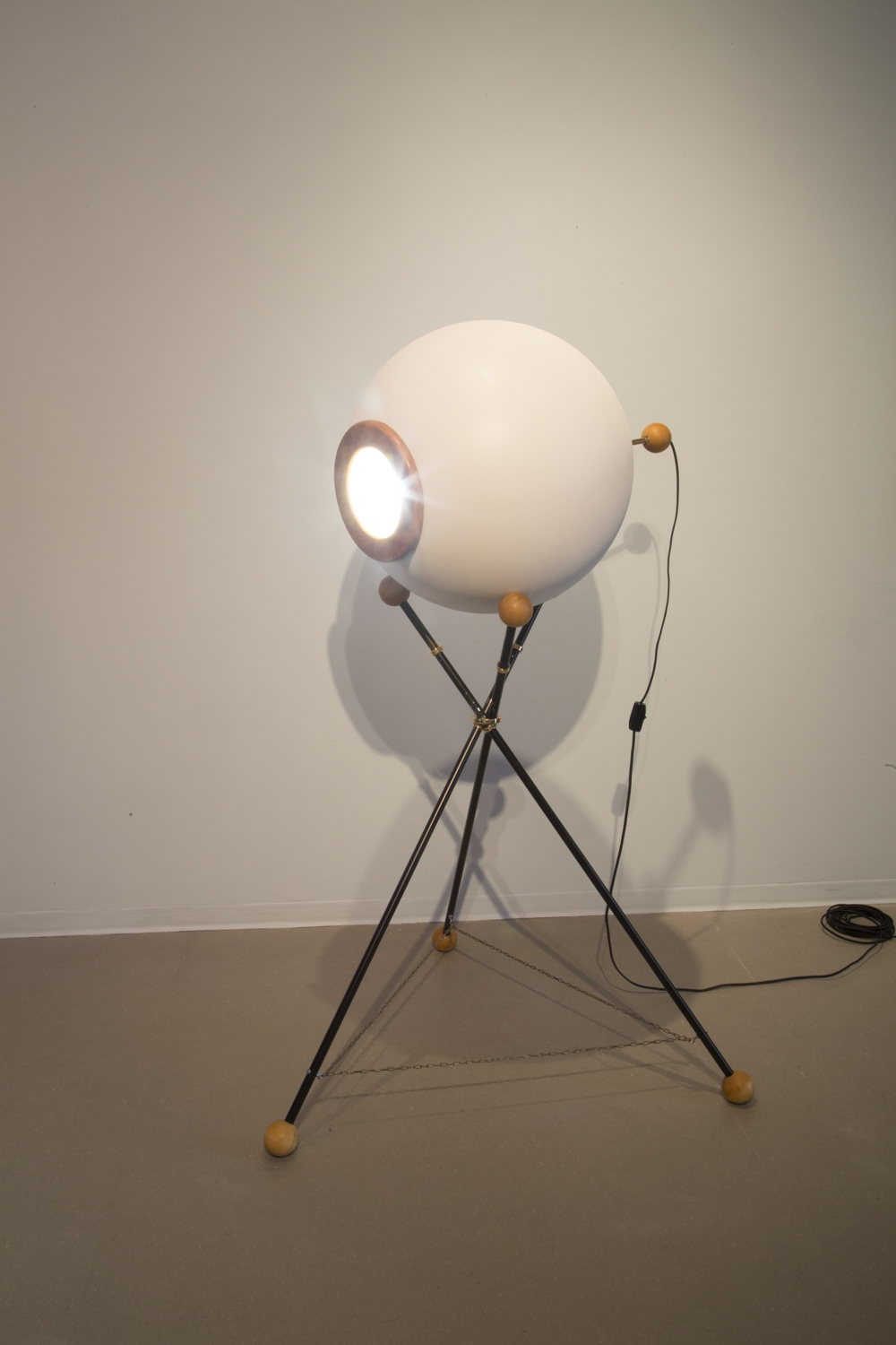 """Oculight,"" 2014, exhibition view: New Museum. Photo credit: Jesse Untract-Oakner"