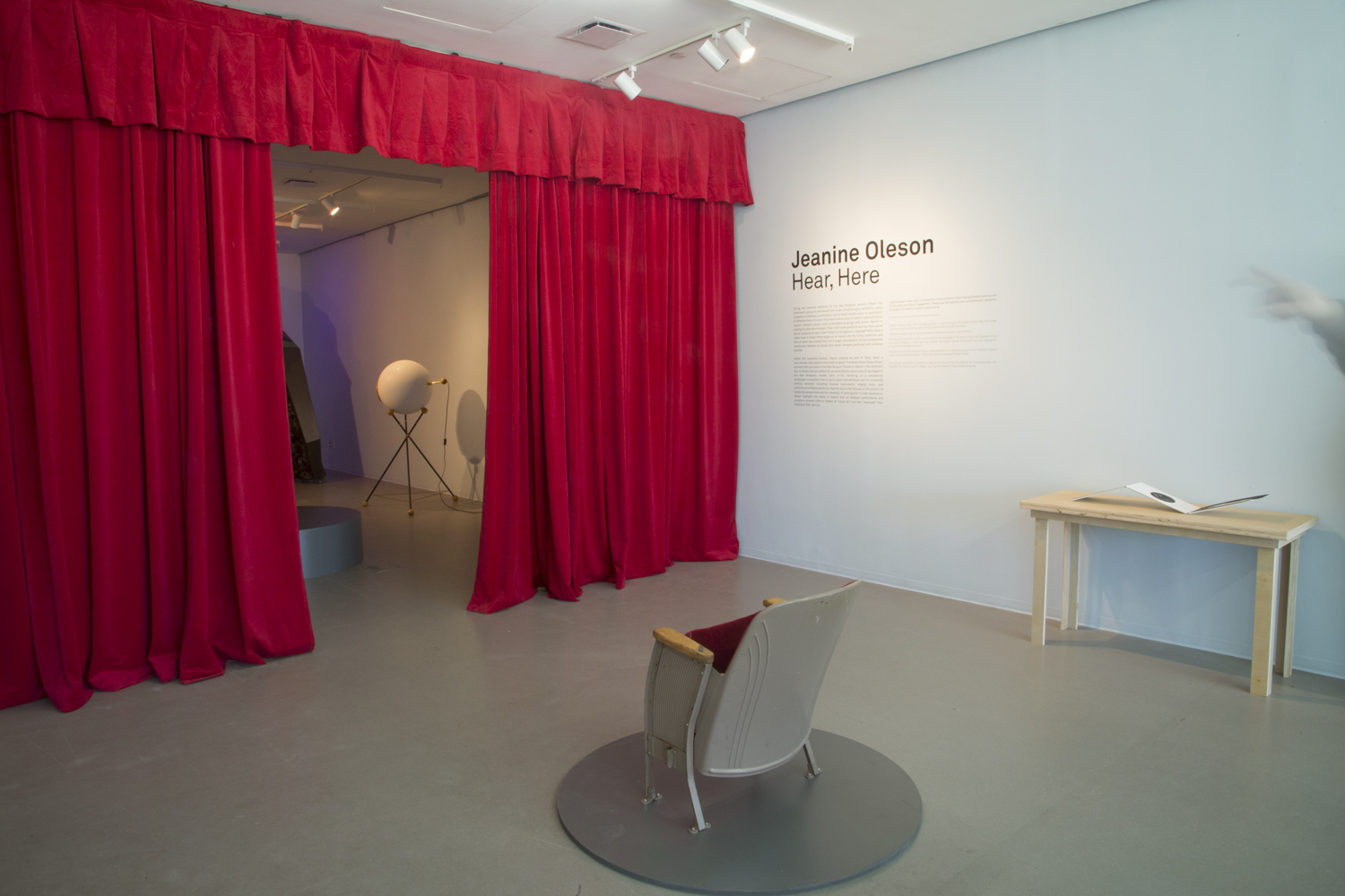 """Jeanine Oleson: Hear, Here,"" 2014, exhibition view: New Museum. Photo credit: Jesse Untract-Oakner"