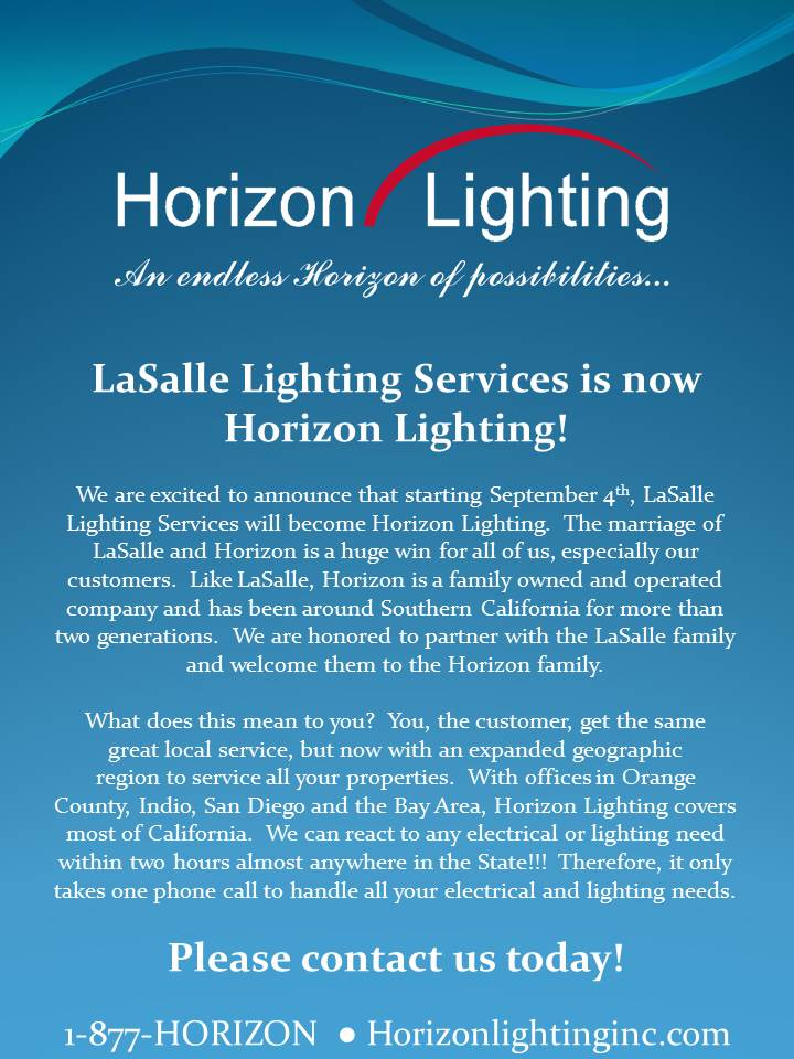 LaSalle Lighting Services Announcement