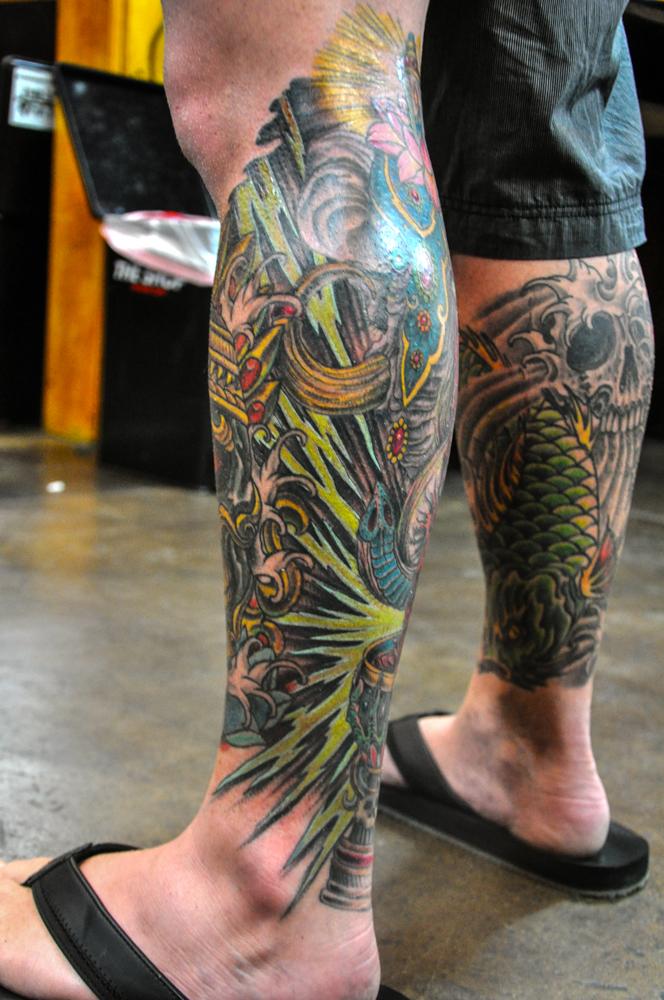 enrique ejay bernal tattoo two headed elephant lightning bolts.jpg