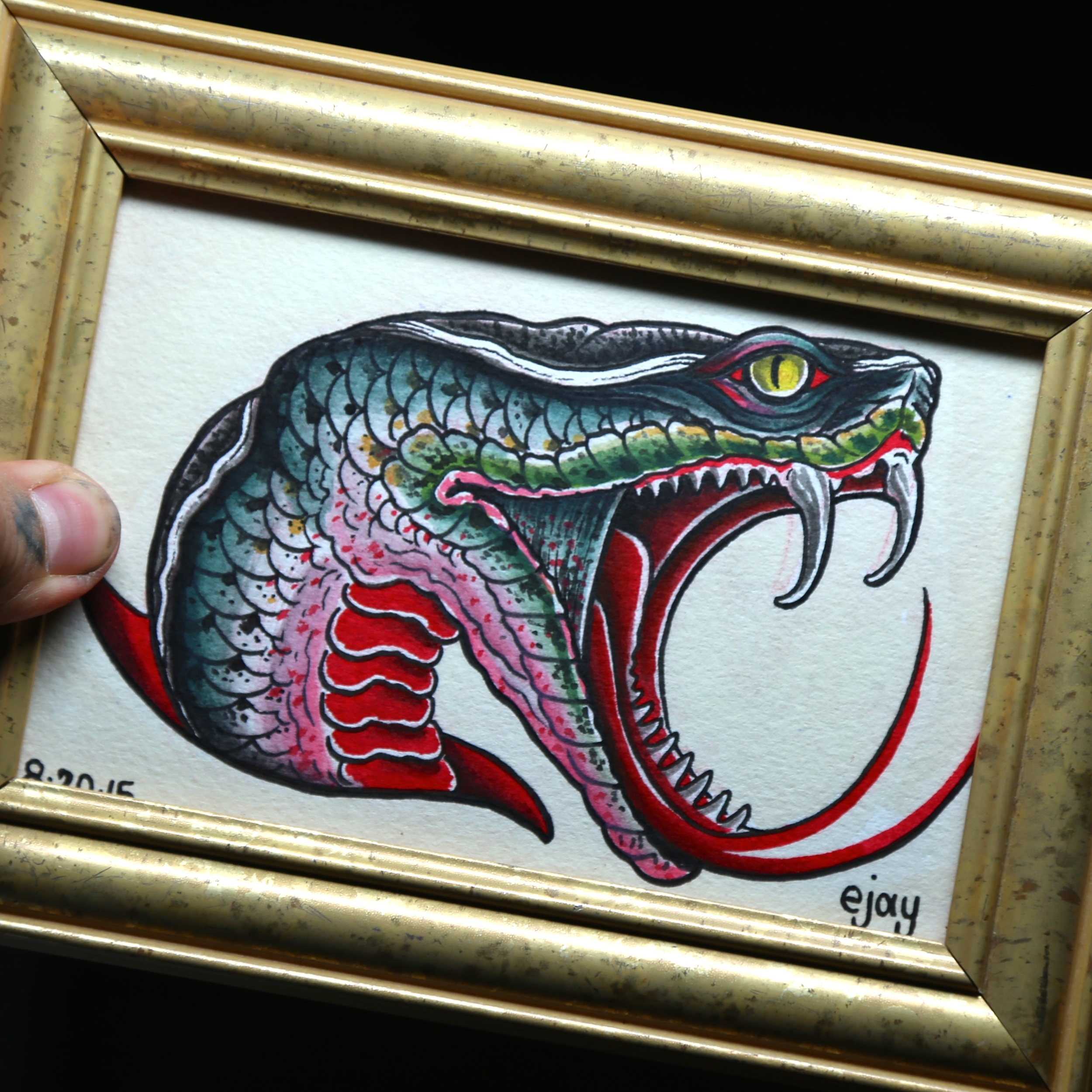 Snake Head Painting enrique bernal ejay tattoo.JPG