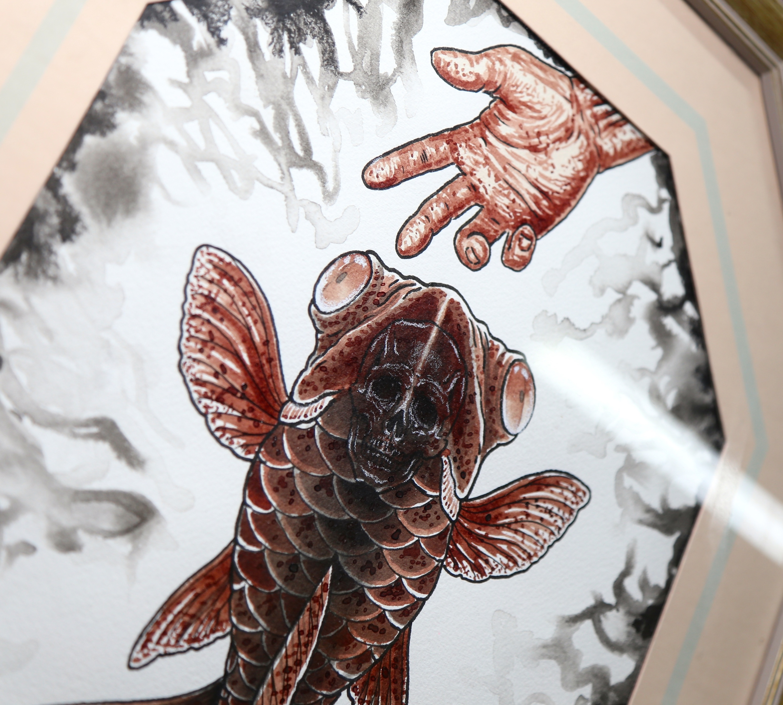 fish painting with my blood 2 enrique bernal ejay tattoo.JPG