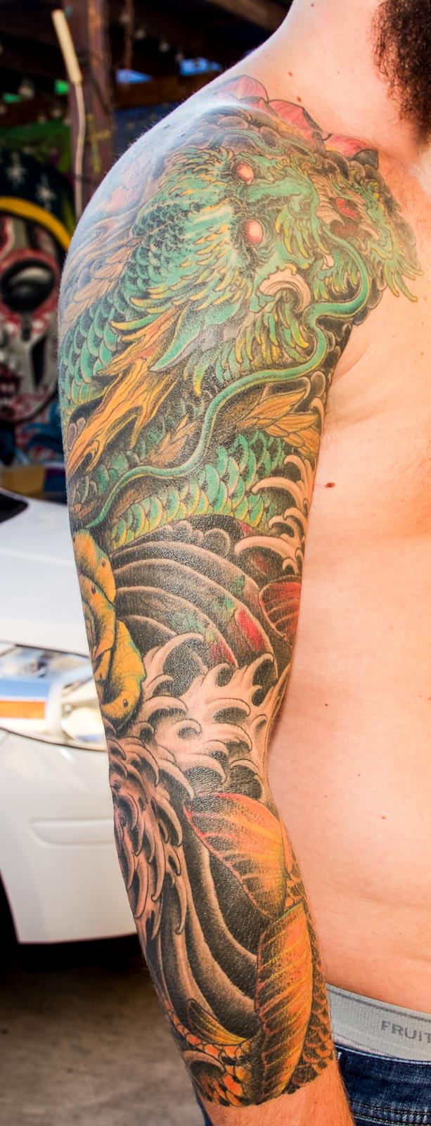 Japanese sleeve 1 enrique bernal ejay tattoo.jpg