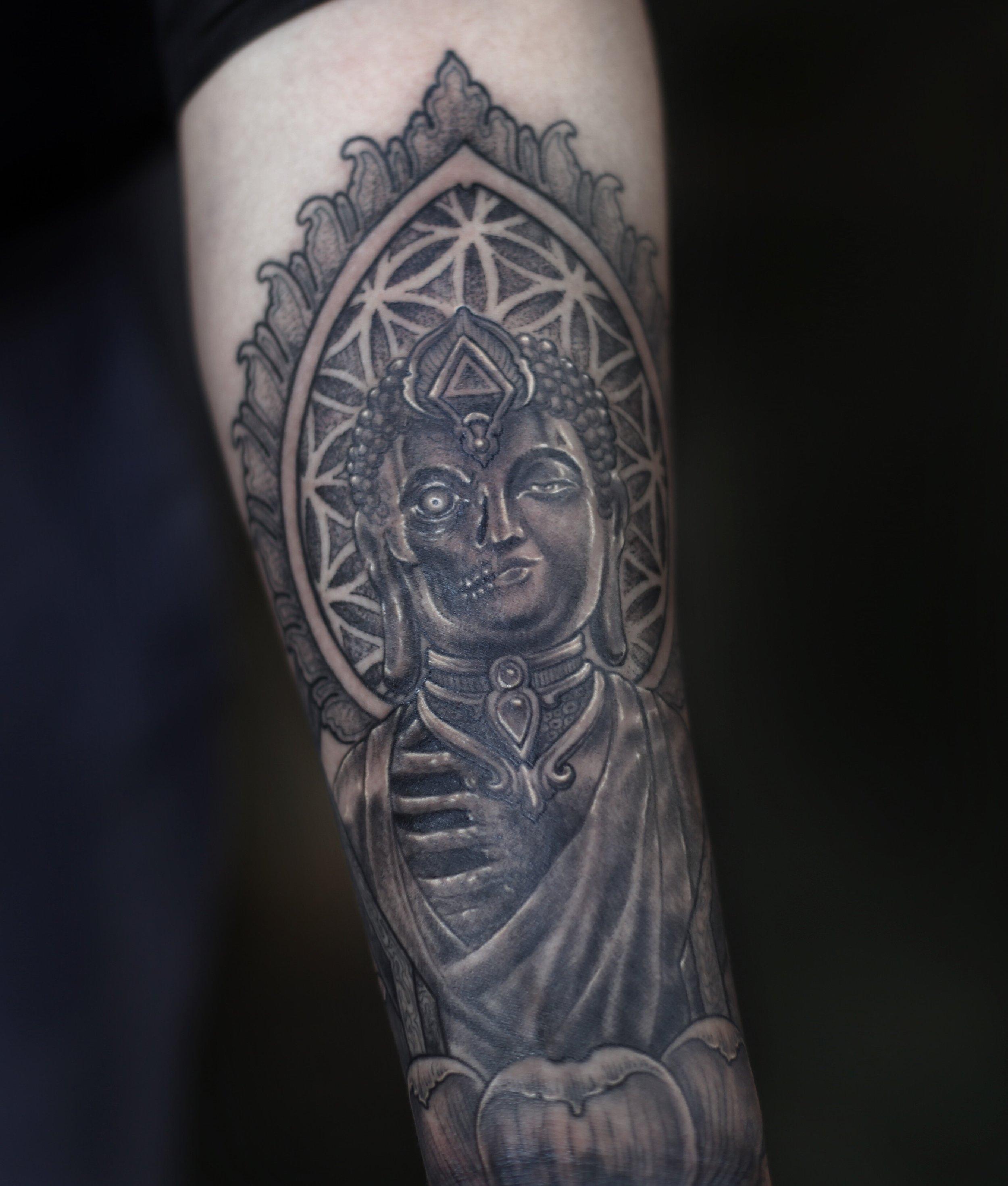 Enrique Ejay Bernal dallas tattoo best buddha.JPG