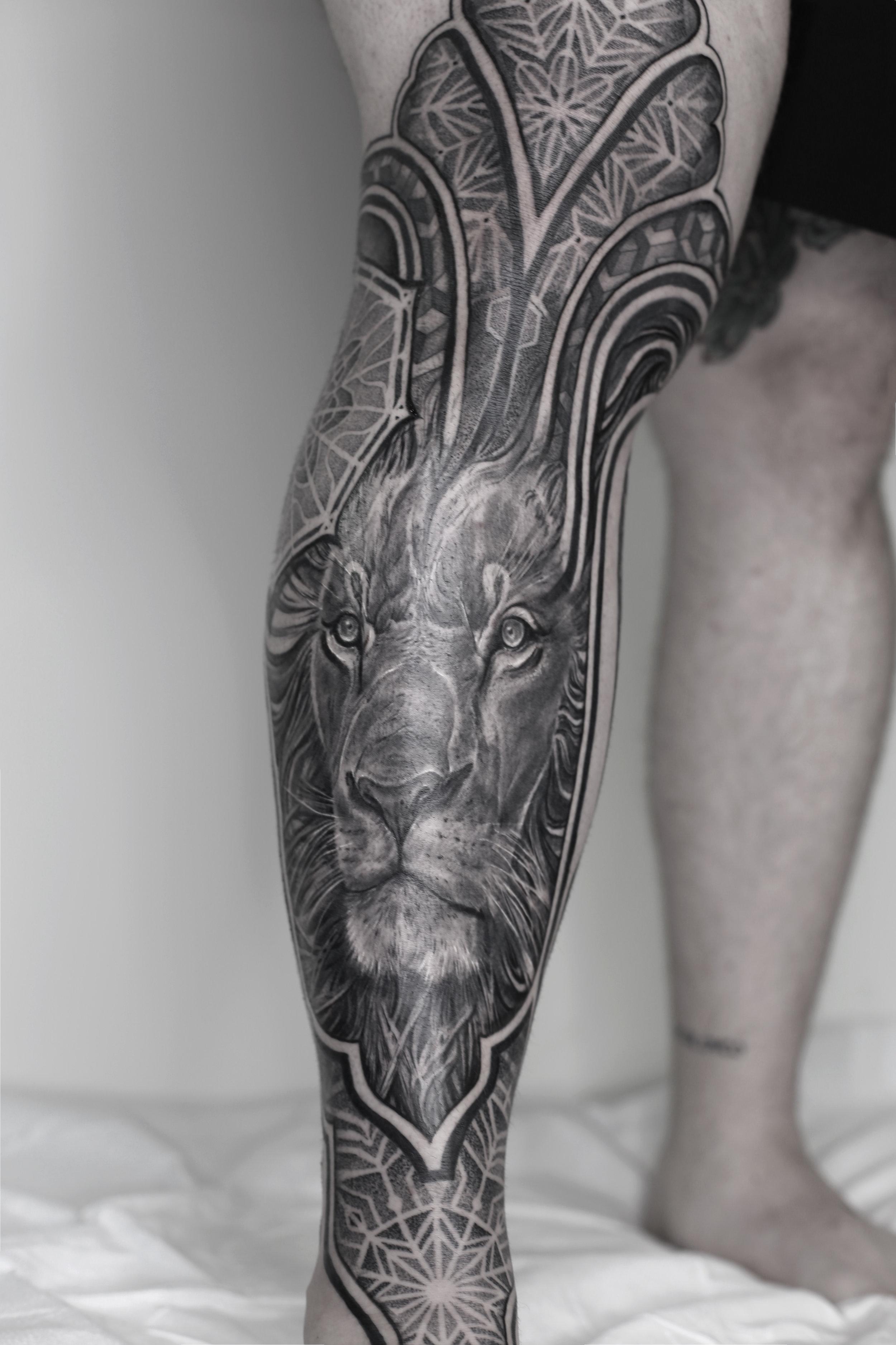 lion ejay tattoo singleton tattoo trinity groves leg sleeve .jpg