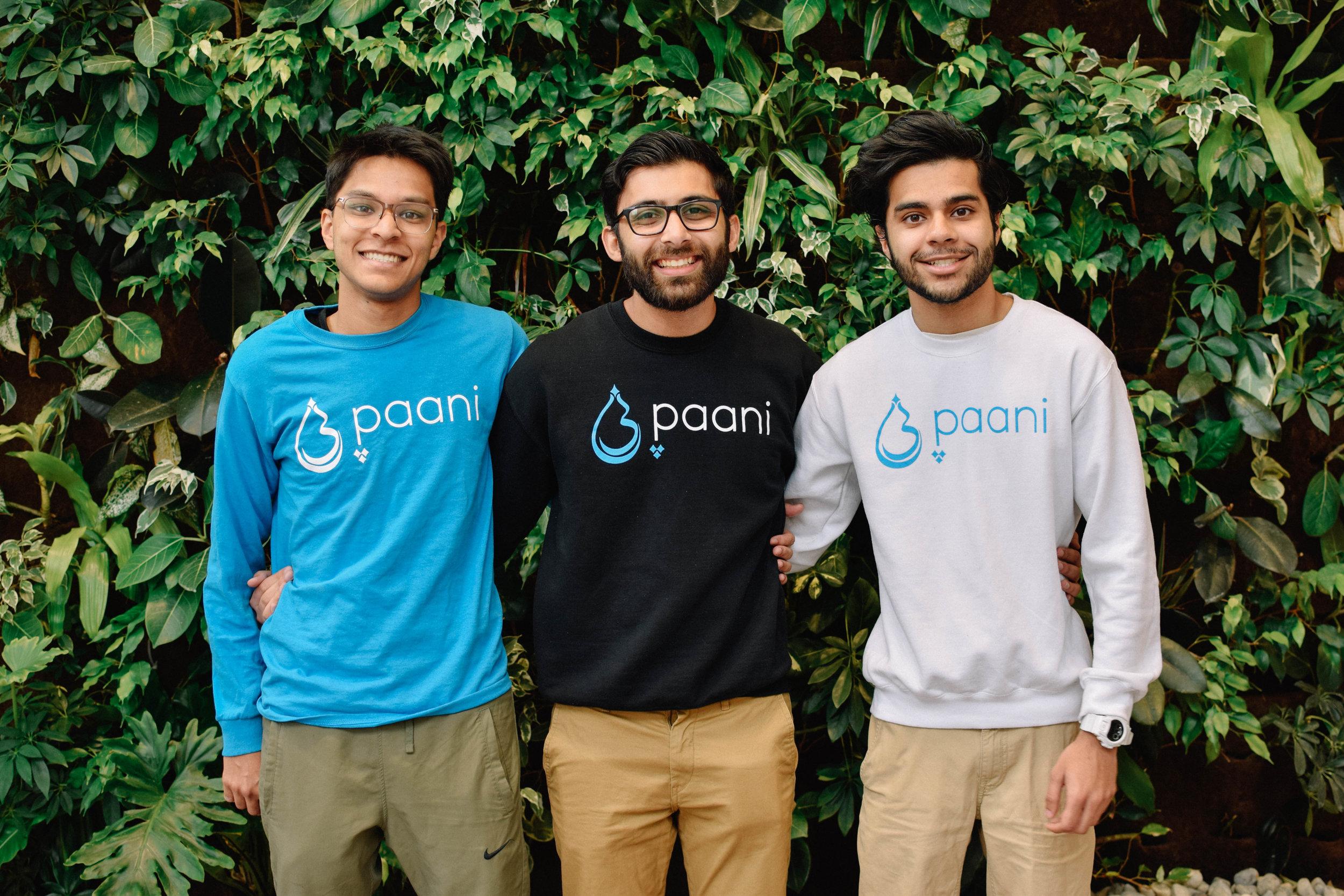 Paani - A nonprofit that aims to improve health and sanitation in PakistanARHUM ARSHAD, SIKANDER 'SONNY' KHAN, NAUMAN KHAN