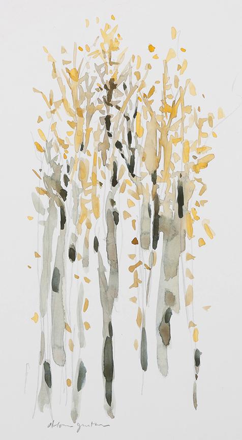 """Aspens"" by Dolores Justus (c)2015"
