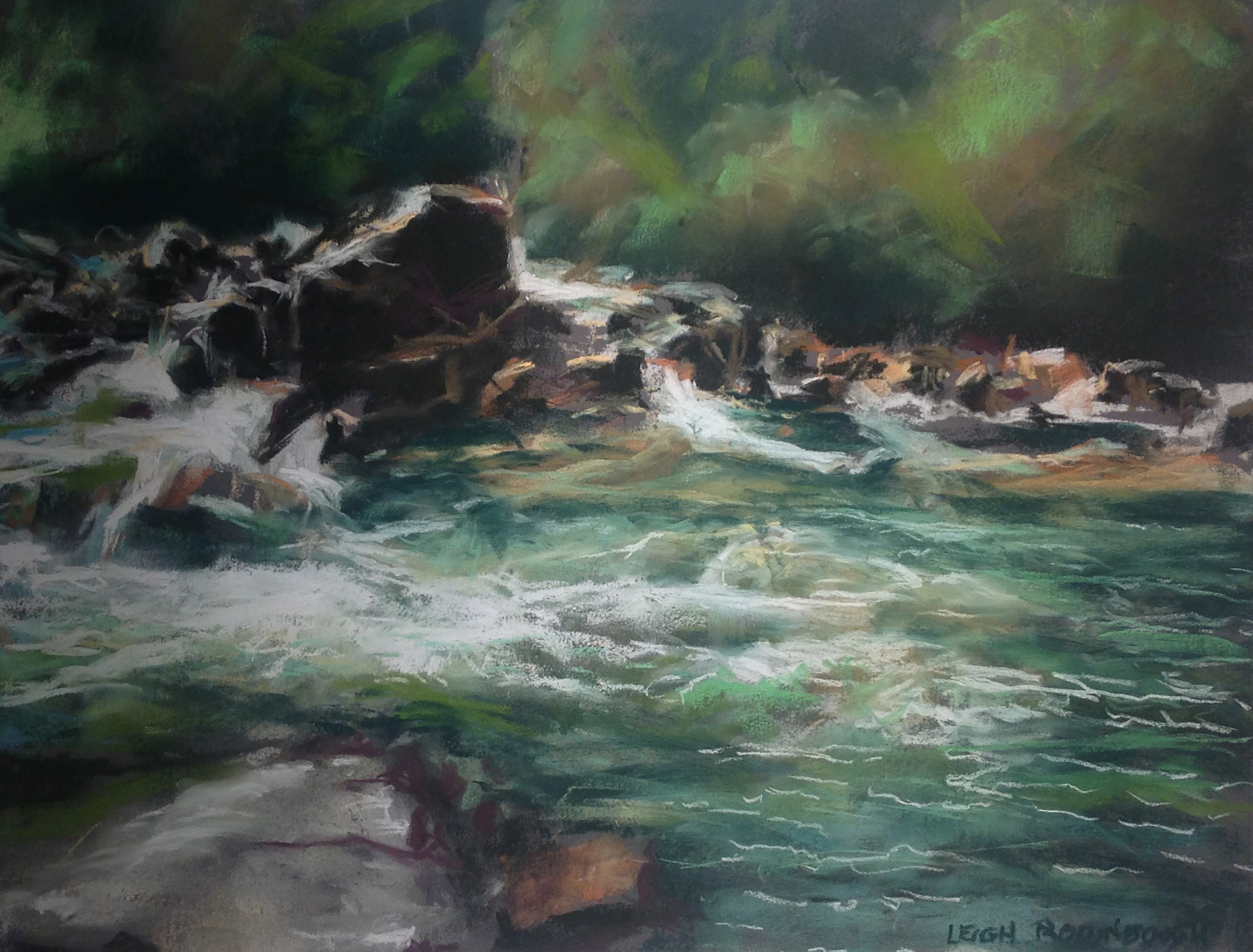 """Mayo River Rapids"" by Leigh Rodenbough"