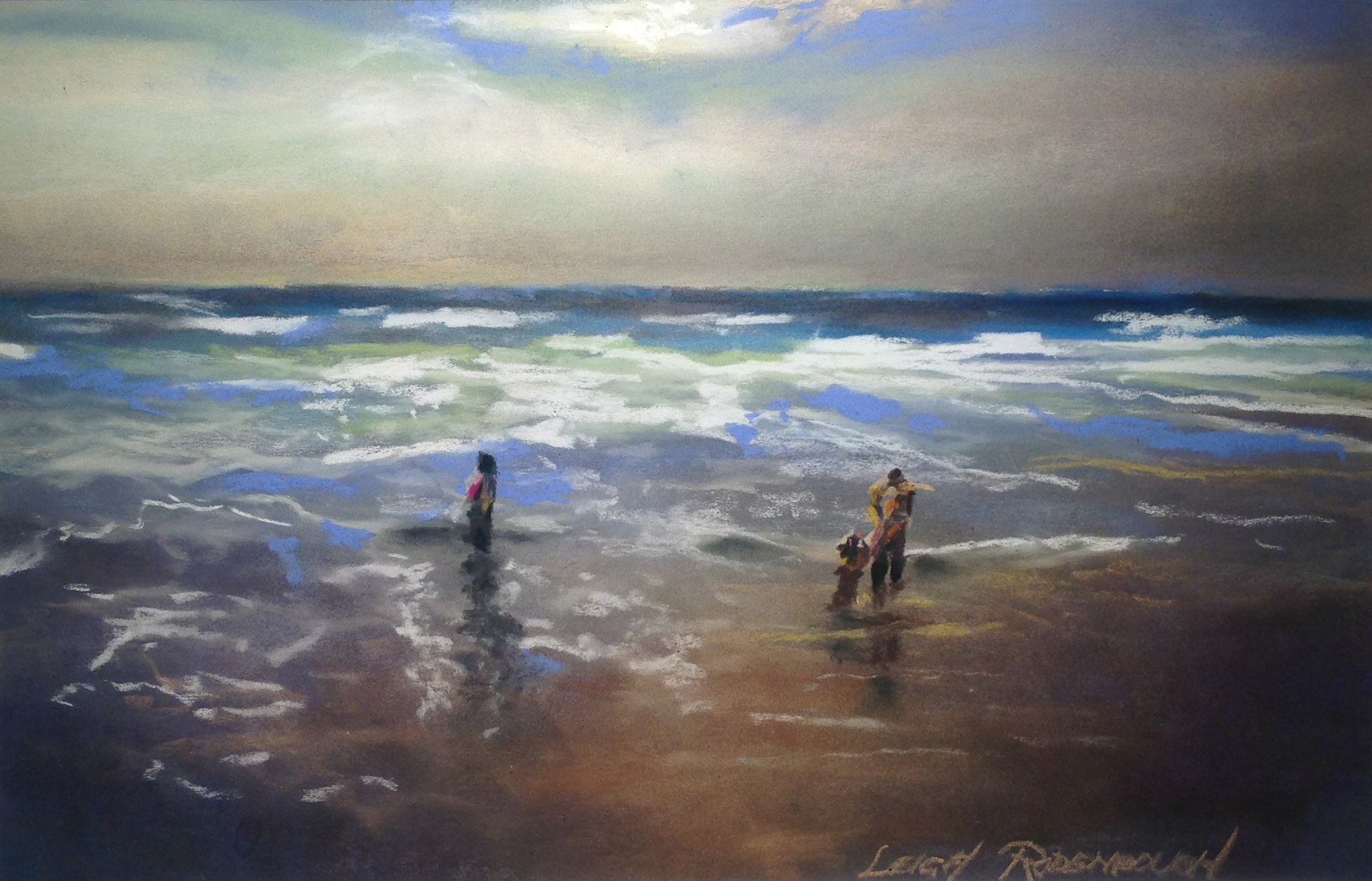 """Surf and Sand, Holden Beach"" by Leigh Rodenbough"