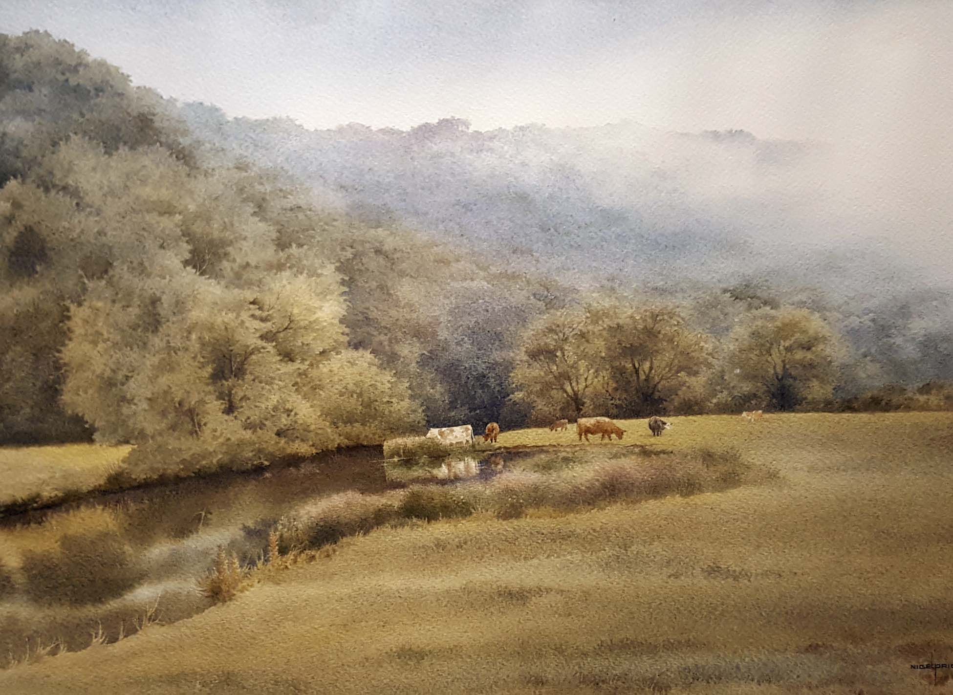 """Grazing by the River Wye"" by Nigel Price"