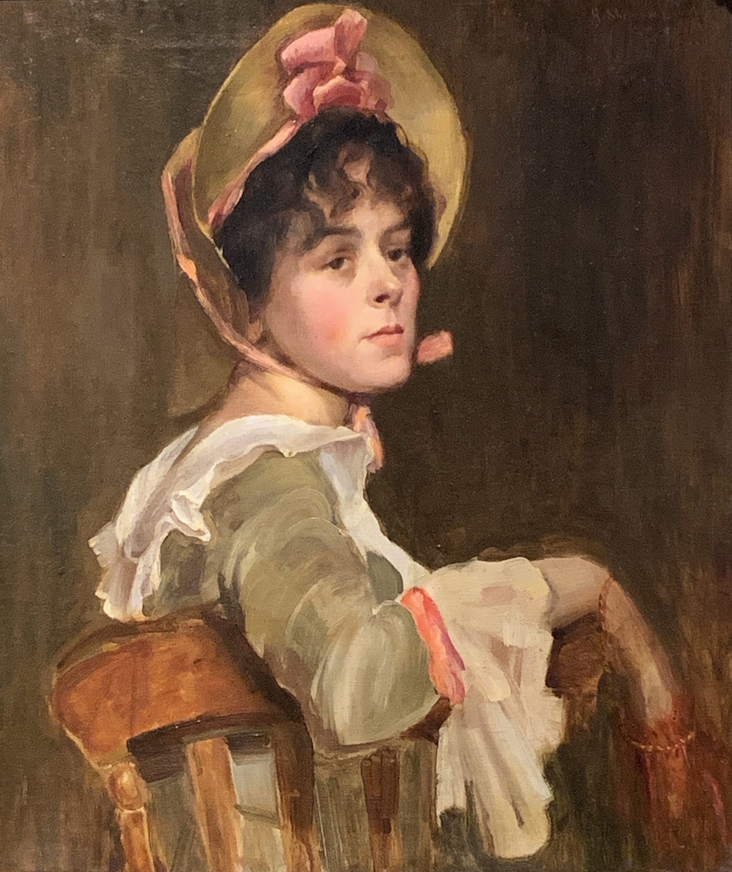 """Portrait of a Young Woman"" by Sheridan Knowles (19th C)"