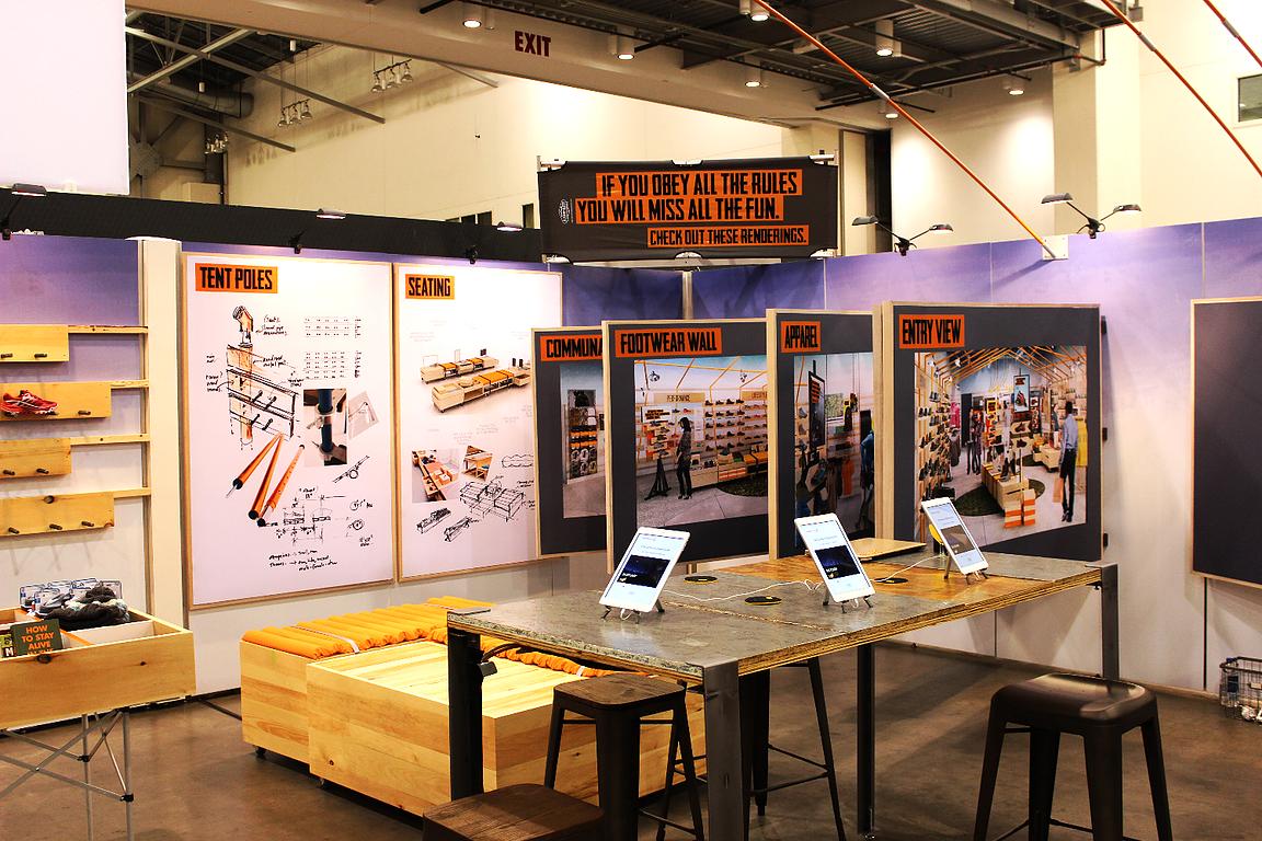 Wood Encased Fabric Frame Display