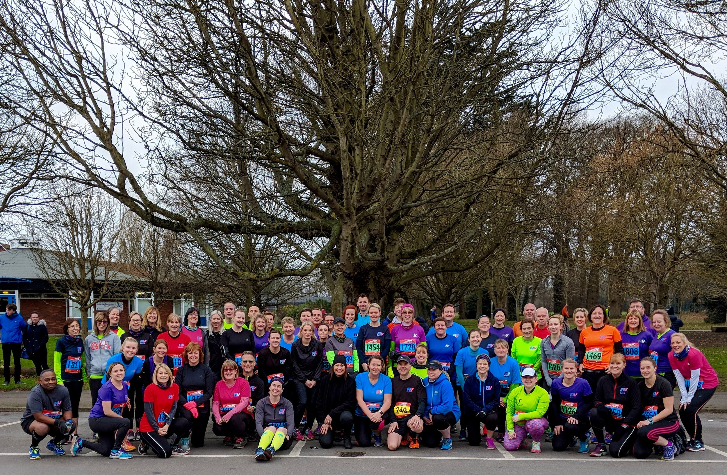 A few of us at the start of Stubbington 10k 2018