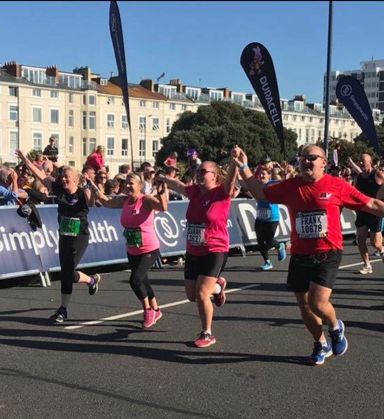Frank at the finish of the Great Sout Run 2018