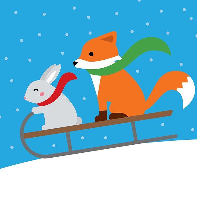 Concept gift card art . . . . . #vectorillustration #vectorart #vectorgraphic #illustrated #giftcards #giftcarddesign #holidaycards #christmasillustration #christmasart #cuteillustration #christmascards #greetingcarddesign #graphicdesigner #vector_art #foxillustration #flatillustration