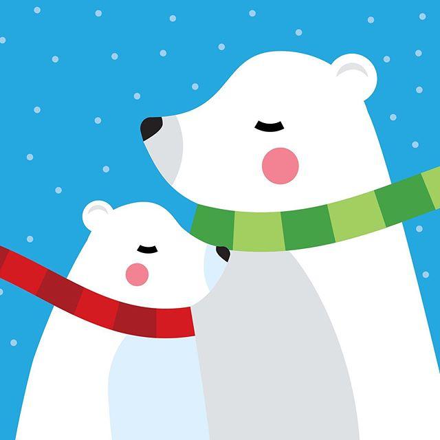 Mama Bear, Baby Bear - Concept Gift Card Art . . . . . #vectorillustration #vectorart #vectorgraphic #illustrated #giftcards #giftcarddesign #cuteaf #cutecritters #cutebear #bearcub #bearillustration #cuteillustration #greetingcarddesign #graphicdesigner #vector_art #flatillustration #design #art #dallas #texas #dfw #diseñomexicano #illustrationart #illustrationnow #illustrationhowl #polarbear #cutepolarbear