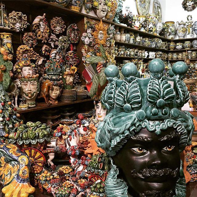 Sicilian Ceramics 🎨 #ceramics #italianart #sicily #taormina