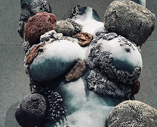 """Details from the 'Unbelievable' """"This Art about what we think art might be is based on a lifetime's looking""""  #damienhirst #inovation #whatisart #sculpture"""