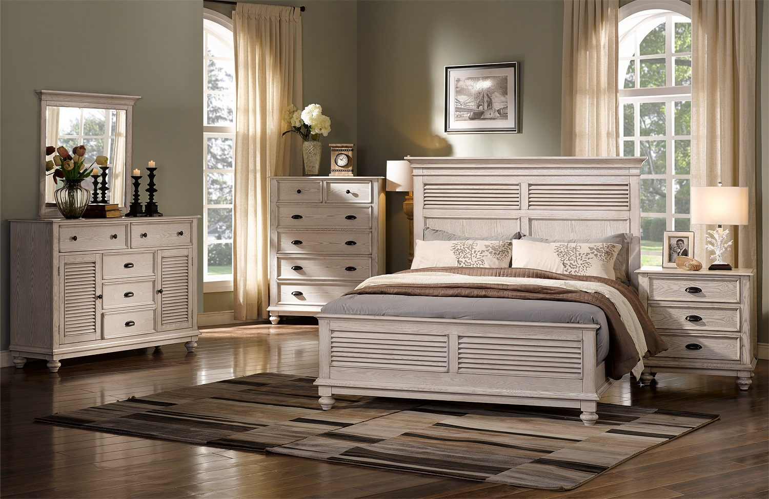 Lakeport bedroom Collection backordered / only king bed available