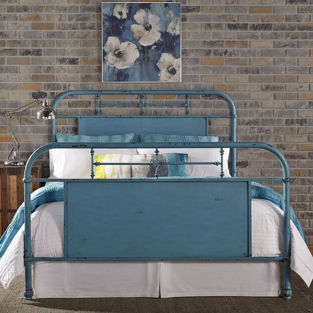Vintage collection metal bed available in twin, full, queen & king  headboard only option available