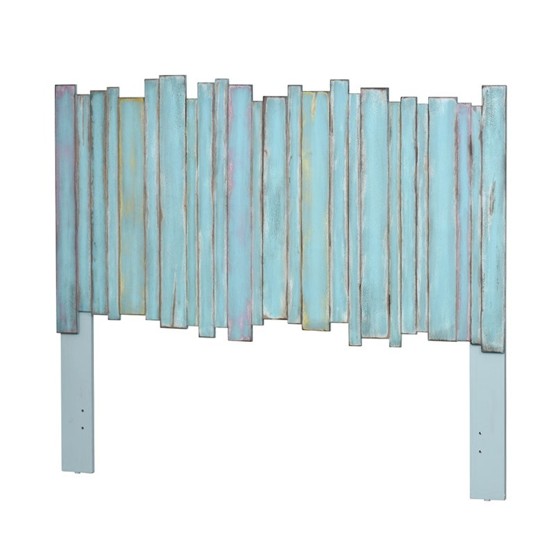 MULTICOLOR PICKET FENCE HEADBOARD ONLY AVAILABE IN TWIN, QUEEN & KING