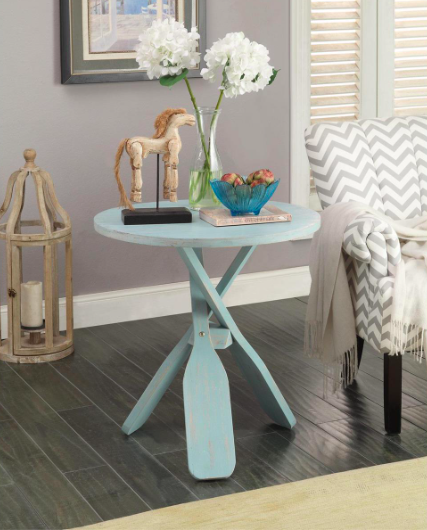 BLUE OAR ACCENT TABLE