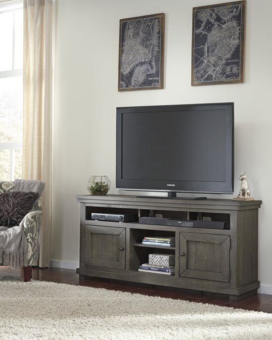 """64"""" WILLOW GREY TV STAND"""