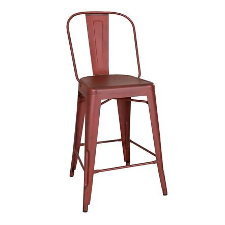 """24"""" Bow Back Vintage Series Stool - Antique Red"""