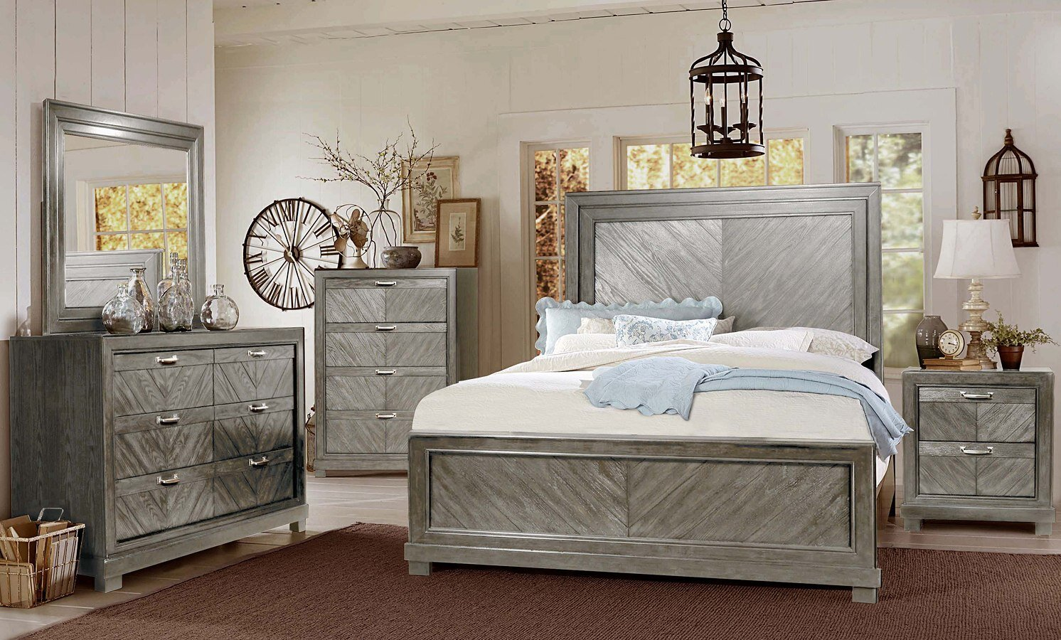 MONTANA BEDROOM COLLECTION AVAILABLE IN A KING BED, DRESSER AND NIGHTSTANDS