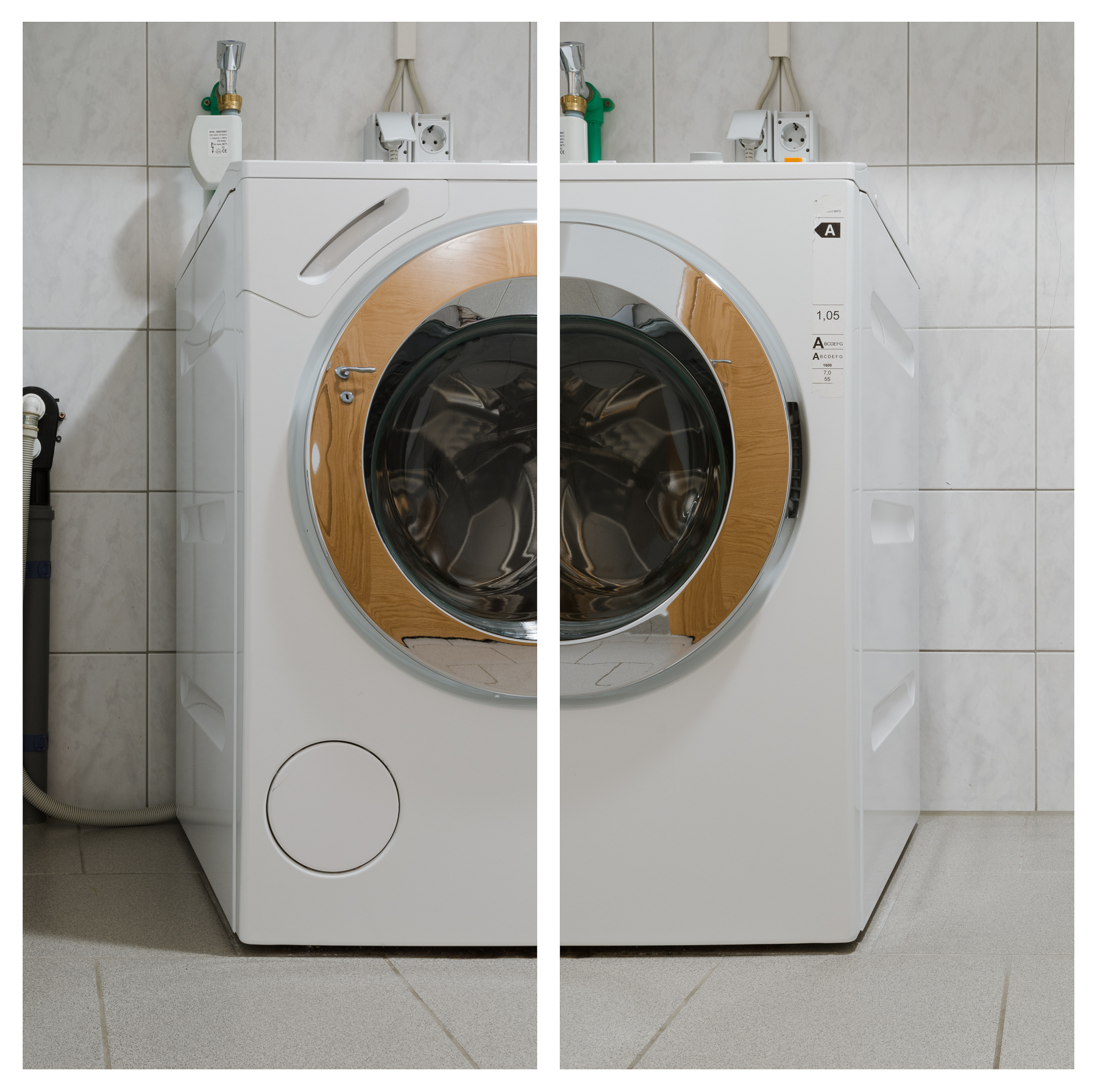 Waschmaschine, 2017 Inkjet-Pigmentdruck 2-teilig zu je 108 × 53 cm