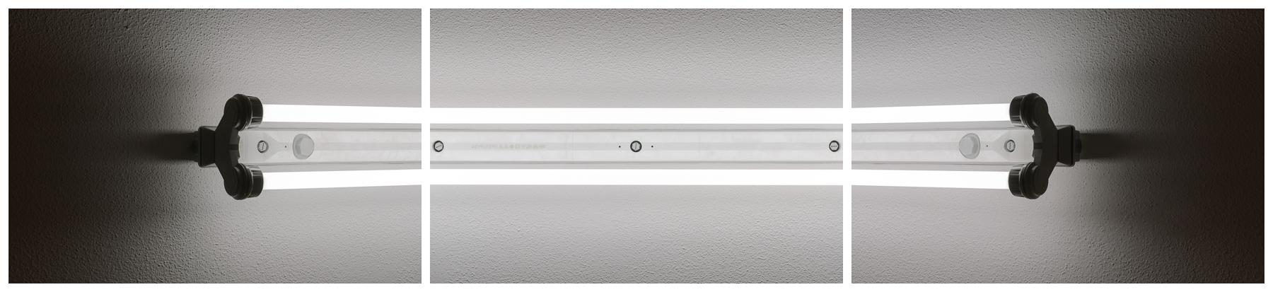 Leuchtstoffröhren, 2016 Inkjet-Pigmentdruck 3-teilig zu je 72 × 48 cm