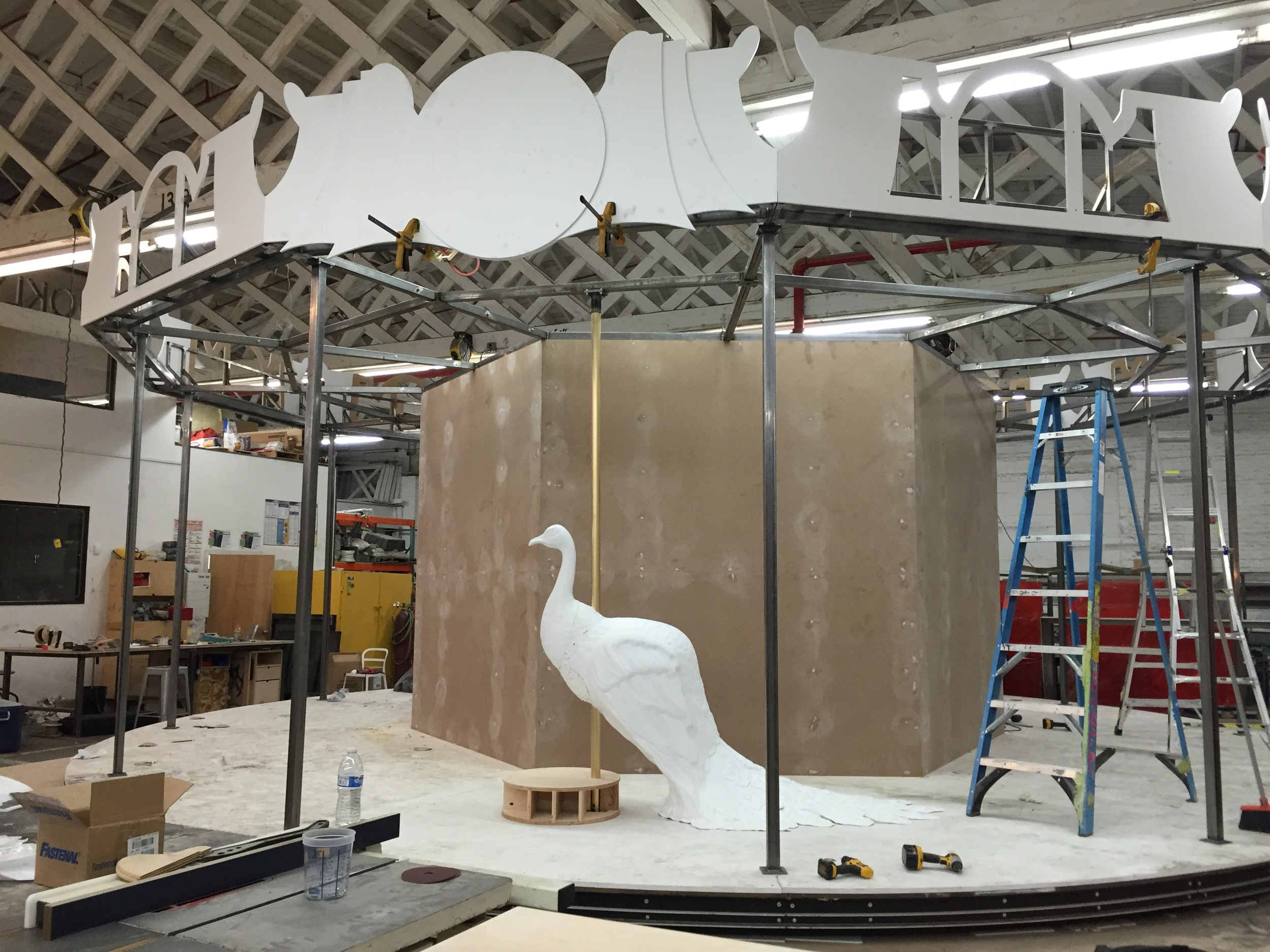 Target, in Vogue NYFW Kickoff Event 2015: Mounted Peacock (Vacuformed Plastic, Expanding Foam, Wood, Steel)