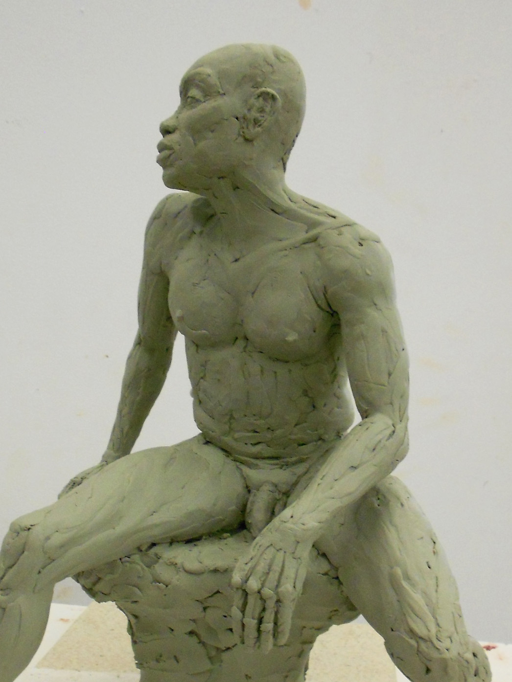 "Dan, 2012 (Oil Clay 16""x14""x10"")"