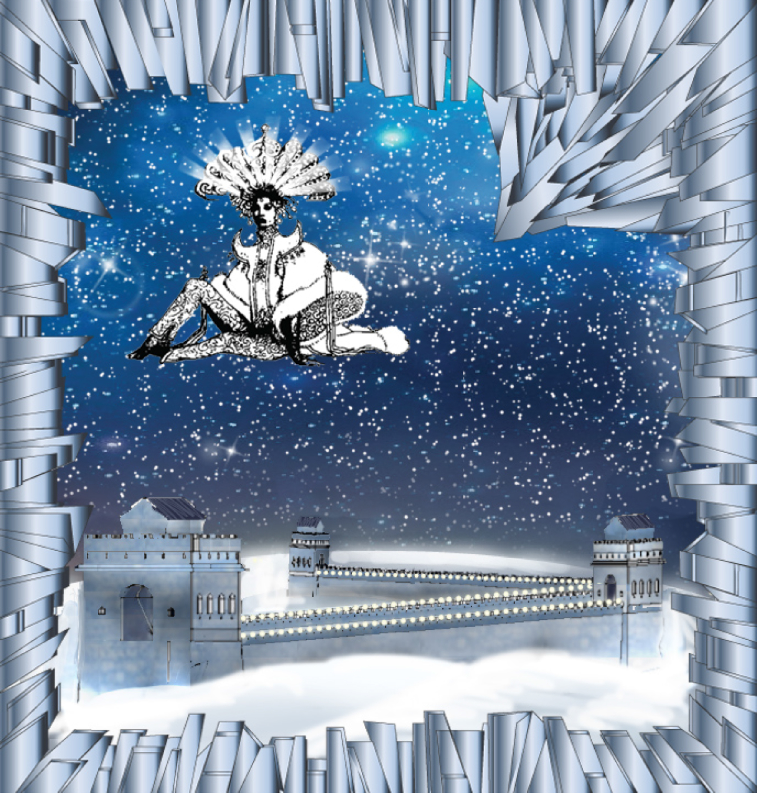 Saks Fifth Avenue Holiday Windows 2015: The Great Wall of China (Sketch, Courtesy of Just So)