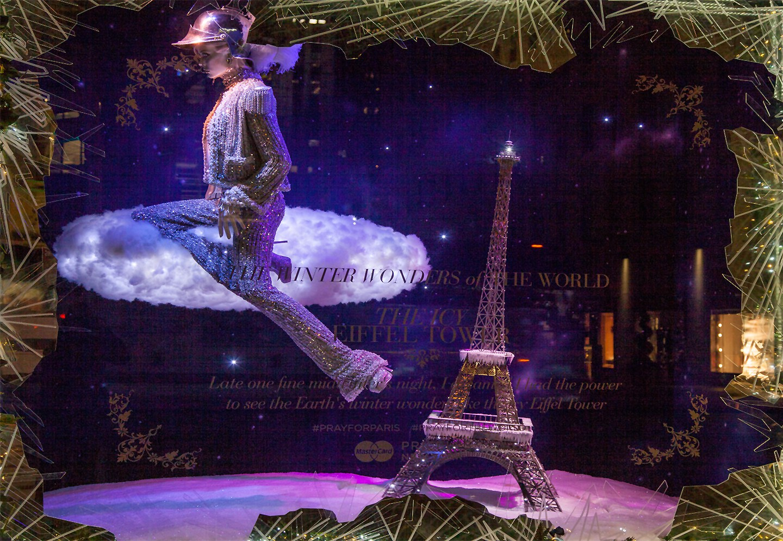 Saks Fifth Avenue Holiday Windows 2015: Eiffel Tower