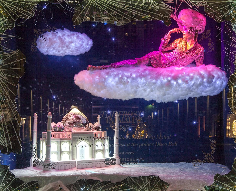 Saks Fifth Avenue Holiday Windows 2015: Taj Mahal