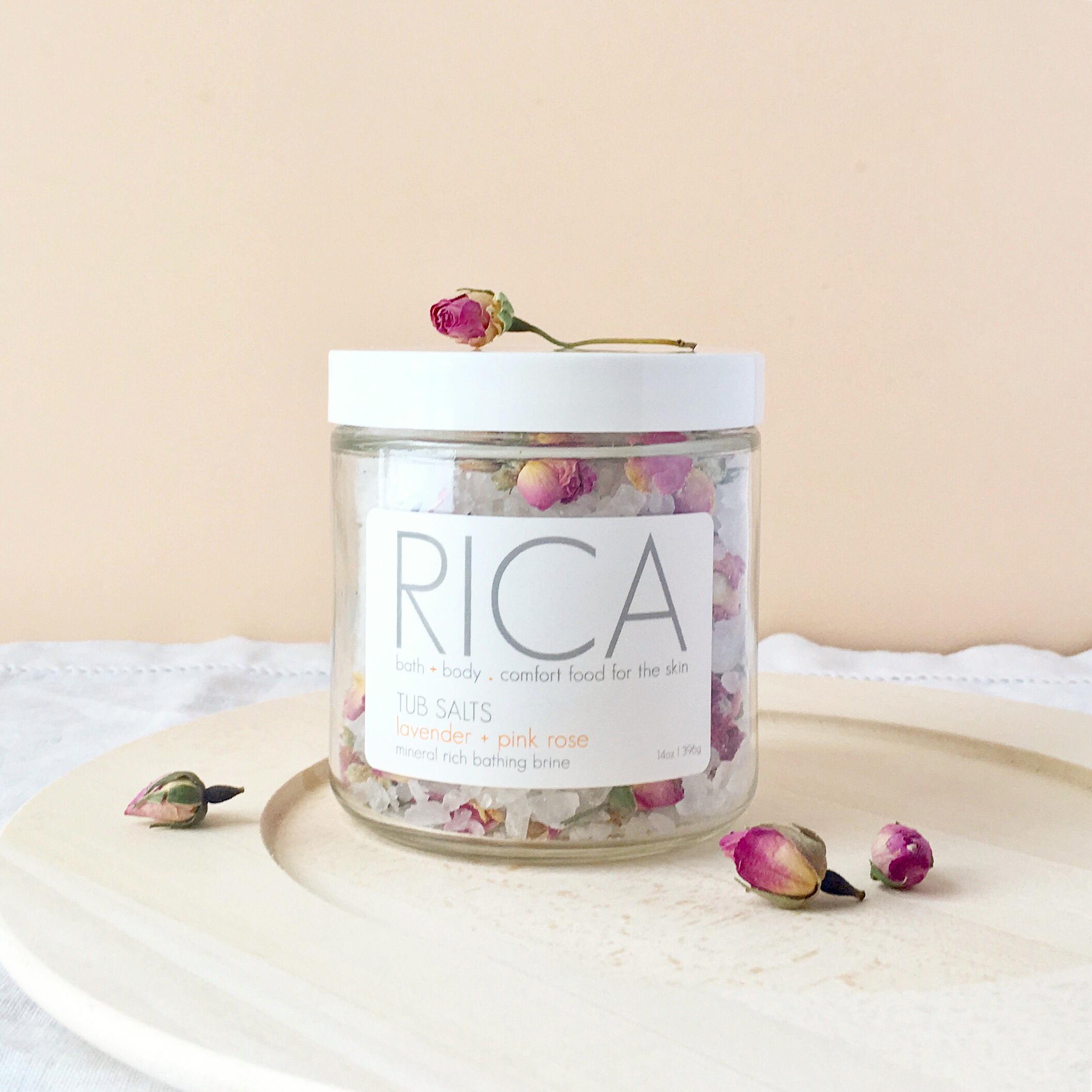 Tub Salts Lavender + Pink Rose