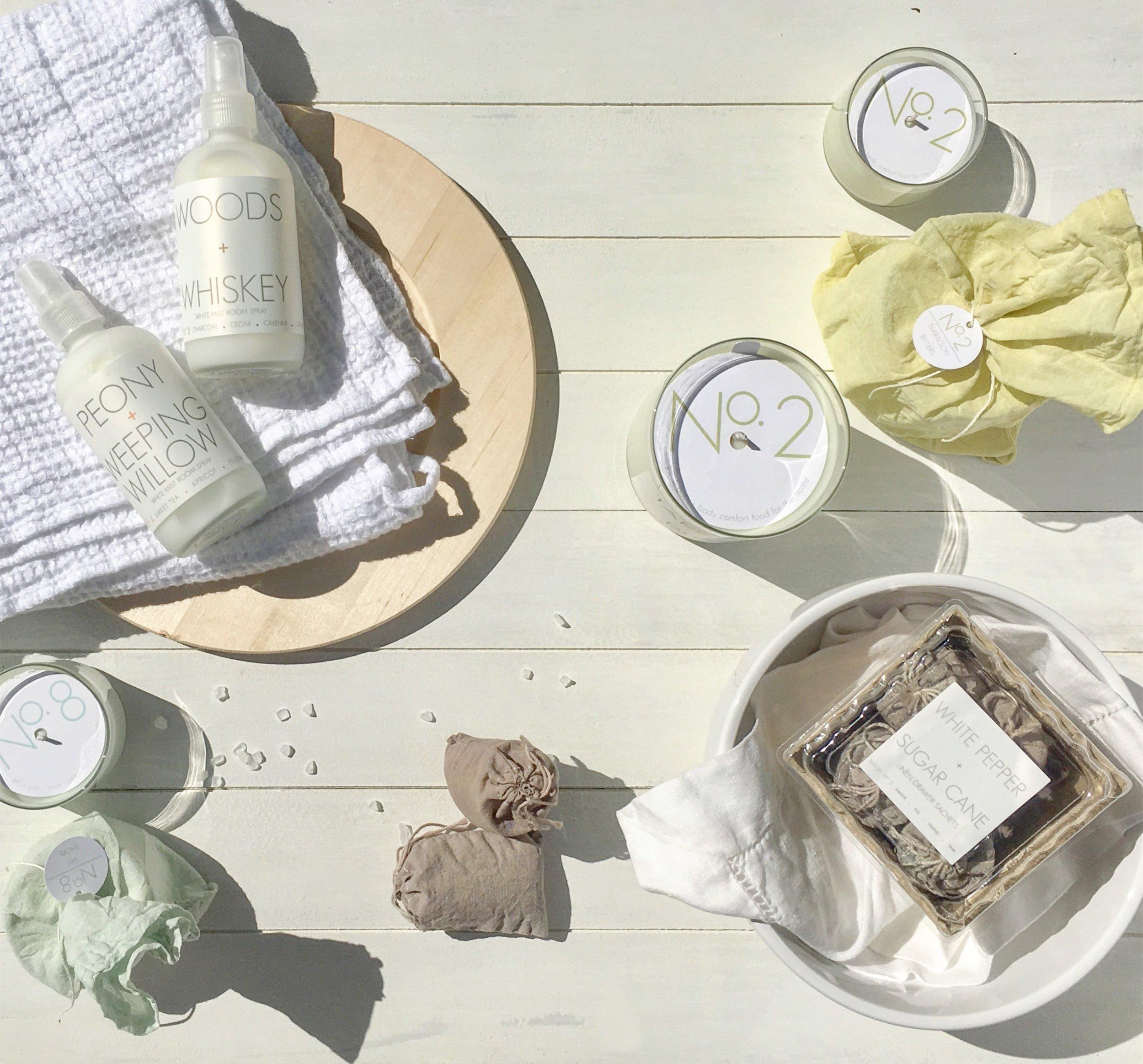 RICA bath + body Summer Sun Sprays on Wooden Plate Sachets in Ceramic Bowl Candles.JPG