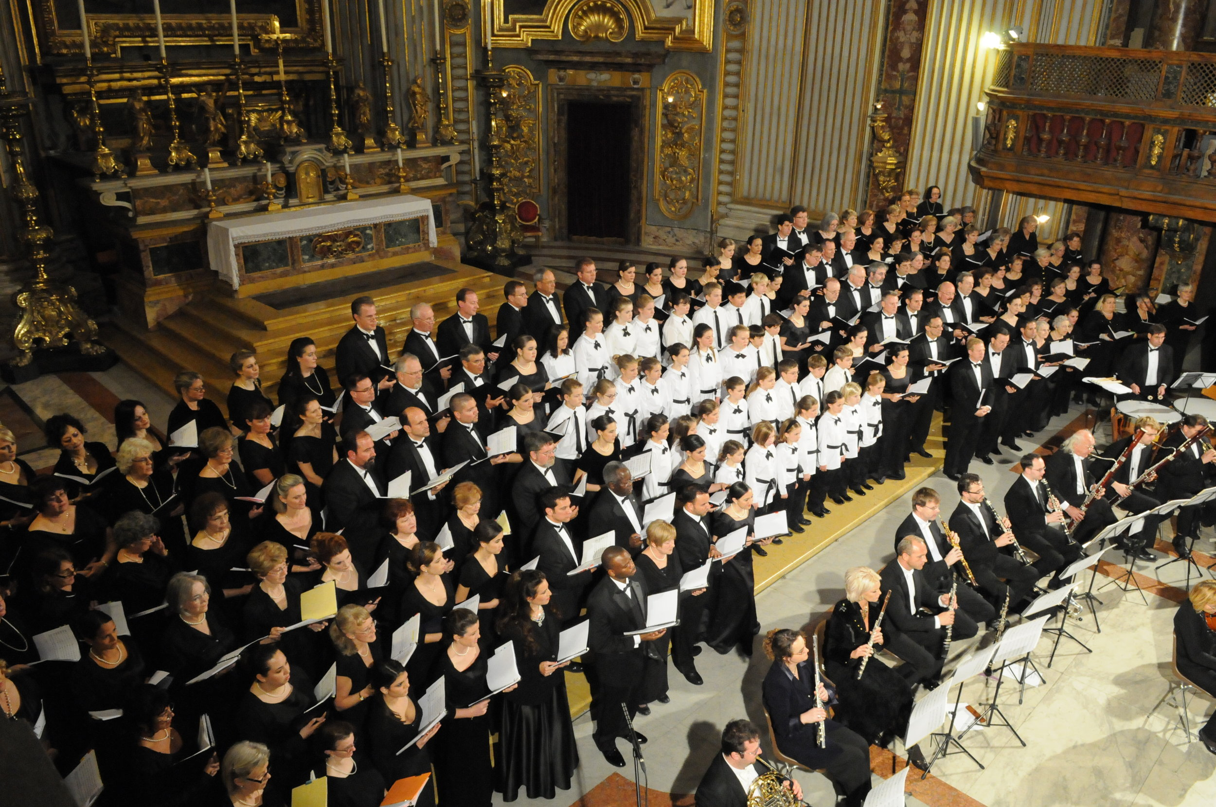 The Continuo Arts Symphonic Chorus Performing  Requiem For My Mother  in Vatican City in 2008.