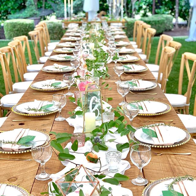 Perfect garden wedding!