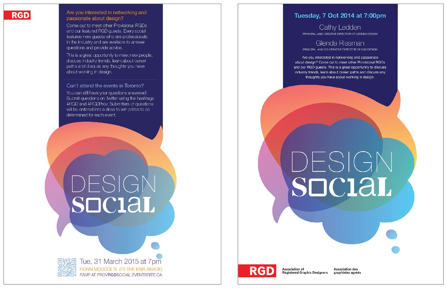 LEFT SIDE: Event Promotion Flyer (letter-sized, print)   RIGHT SIDE:  Specific Event Poster   (letter-sized, print)
