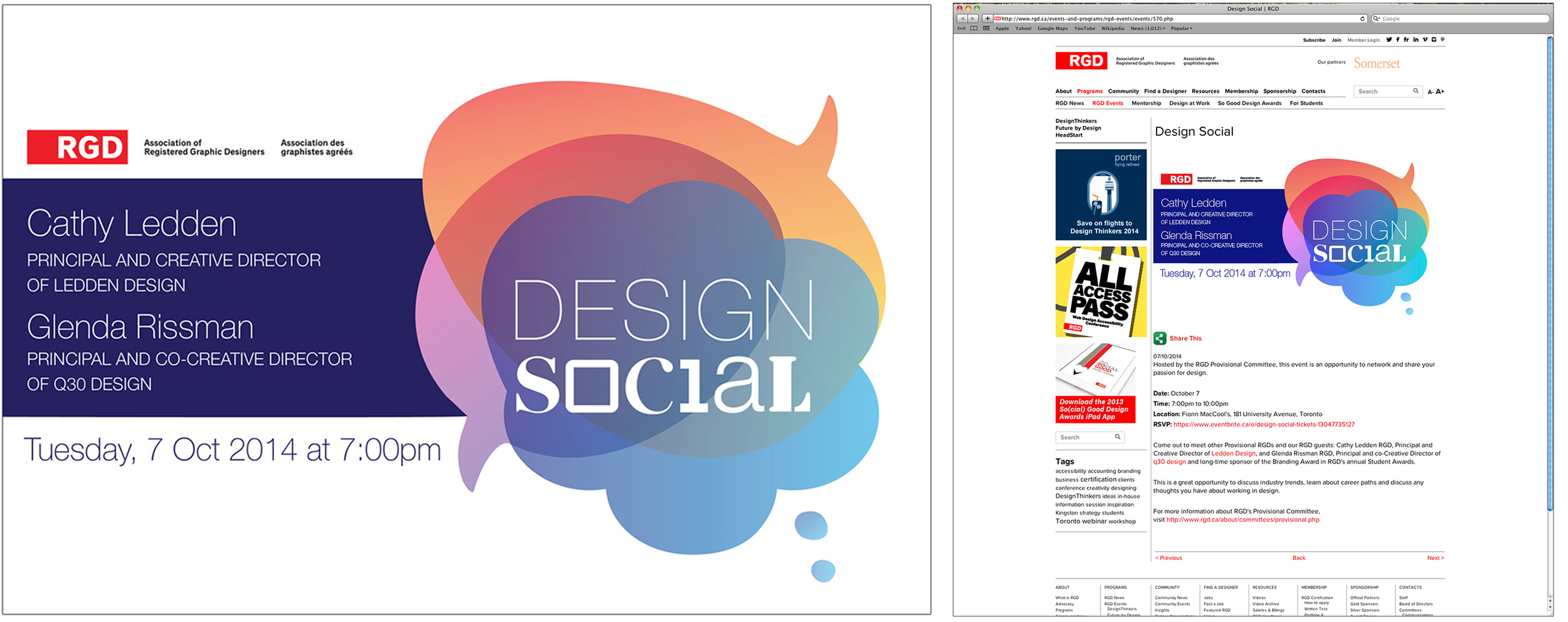LEFT SIDE: Event Banner (700px x460px, web) RIGHT SIDE: Event Webpage Screen-grab (banner in use)