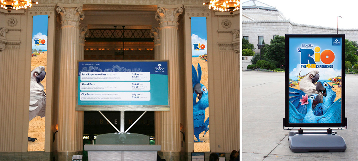 LEFT SIDE:Main Foyer Banners RIGHT SIDE:Windmaster Poster