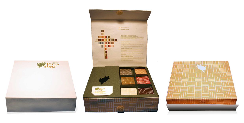 Sample Box   (top, inside, bottom)