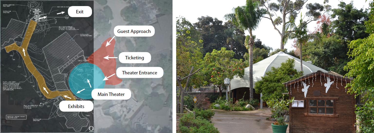 San Diego Zoo Area Map (left) Selected Photo of Site